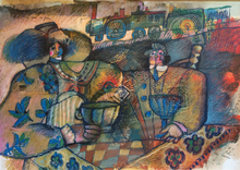 Théo TOBIASSE (1927-2012) - L'amour est bleu sur le quai des gares