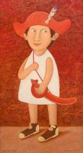 """Roman ANTONOV - Gemälde - """"Boy with a sabre"""""""