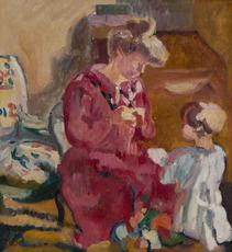 Louis VALTAT - Pintura - Suzanne et Jean enfant