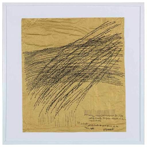 Jean-Luc PARANT - Zeichnung Aquarell - 3079 petites boules les yeux ouverts de la main droite...