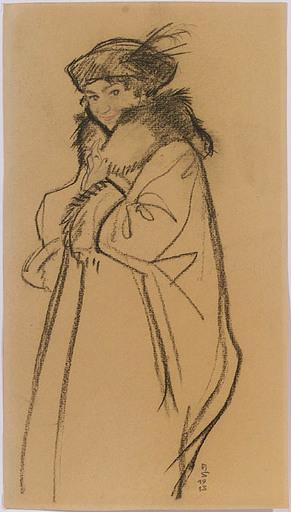 Hans STROHOFER - 水彩作品 -  Portrait, 1913