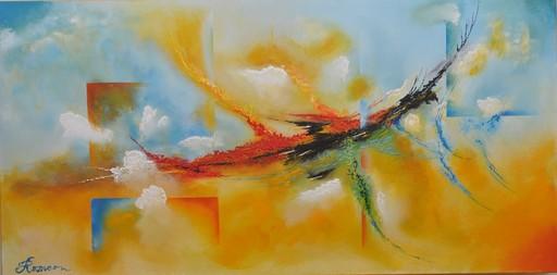 Romeo DOBROTA - Painting - Flying,