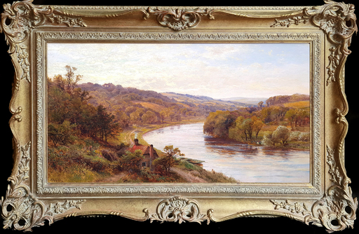 Alfred Augustus I GLENDENING - Painting - Pangbourne on Thames