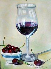Payal TRIPATHI - Pintura - Wine glass with plump