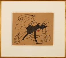 Joan MIRO - Drawing-Watercolor - Chien