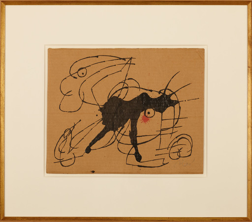Joan MIRO - Disegno Acquarello - Chien