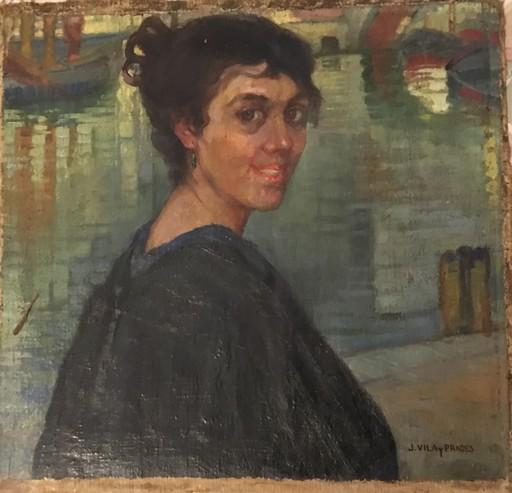 Julio VILA Y PRADES - Painting - Mujer