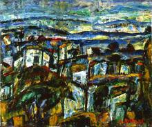 Auguste DUREL - Painting - les maisons en Provence (N°3)