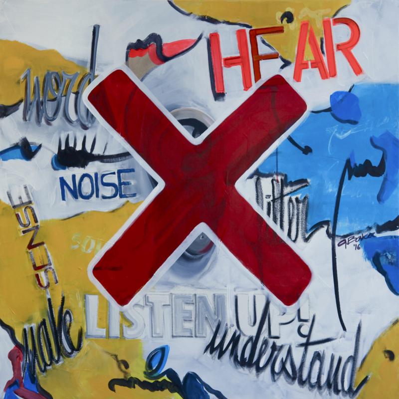 Ghazi BAKER - Painting - listen up