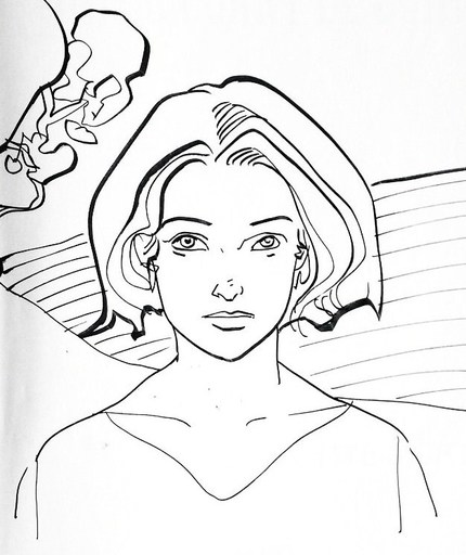 """MAKYO - Drawing-Watercolor - """"Grimion Gant de cuir"""""""