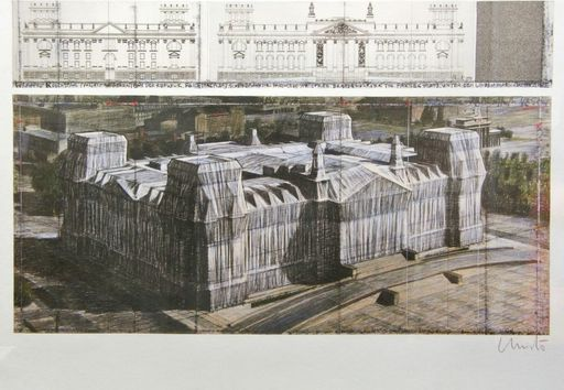 CHRISTO - Print-Multiple - Wrapped Reichstag XXII Berlin