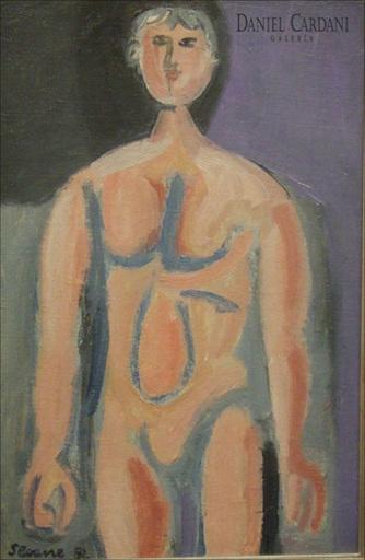 Luis SEOANE LOPEZ - Pittura - Desnudo