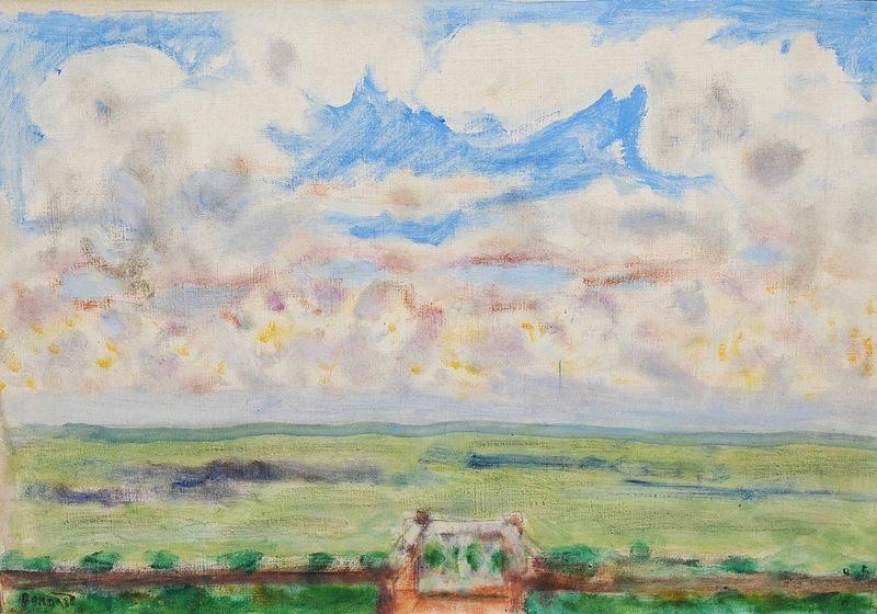Pierre BONNARD - Painting - Terrasse et balcon