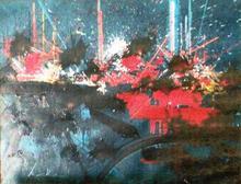 Georges MATHIEU - Painting - ARPENTS DE LUNE