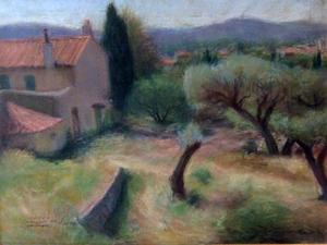 Pierre DEVAL - Drawing-Watercolor - La maison du gardien