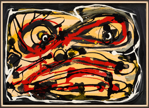 Antonio SAURA - Peinture - Visage