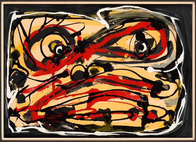 Antonio SAURA - Painting - Visage