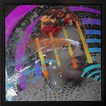 Jean-Luc CURABET - Painting - Psycho fleuriste