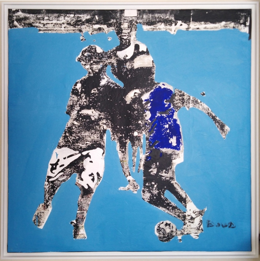 Armand BOUA - 绘画 - enfants jouant au foot