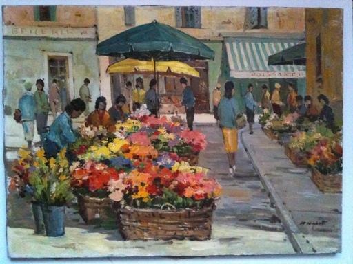 Angelo RIGHETTI - Peinture - marche de Menton