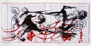 Fernandez ARMAN - Drawing-Watercolor - Sentinelle