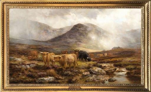 Louis Bosworth HURT - Peinture - Moorland Showers