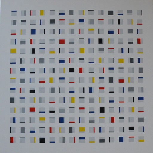 Laszlo OTTO - Painting - Elements in squares