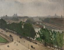 Albert MARQUET - Pintura - Vue de Paris avec Notre-Dame et le Vert-Galand