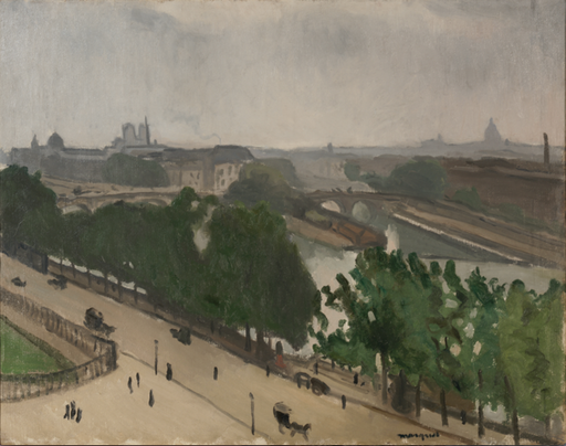 Albert MARQUET - Painting - Vue de Paris avec Notre-Dame et le Vert-Galand