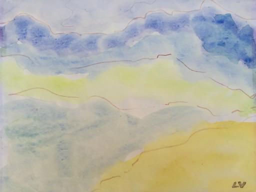 路易斯·瓦尔塔 - 水彩作品 - paysage