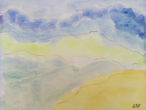 Louis VALTAT - Dessin-Aquarelle - paysage