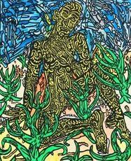 Robert COMBAS - Grabado - homme jaune