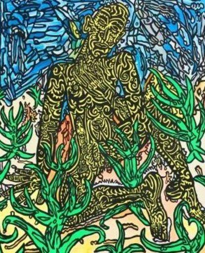 Robert COMBAS - Druckgrafik-Multiple - homme jaune