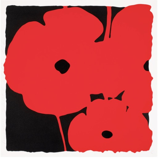 Donald SULTAN - Print-Multiple - Big poppies - Red