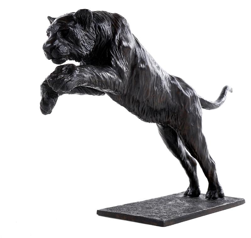 Damien COLCOMBET - Sculpture-Volume - Tigre de Sibérie bondissant