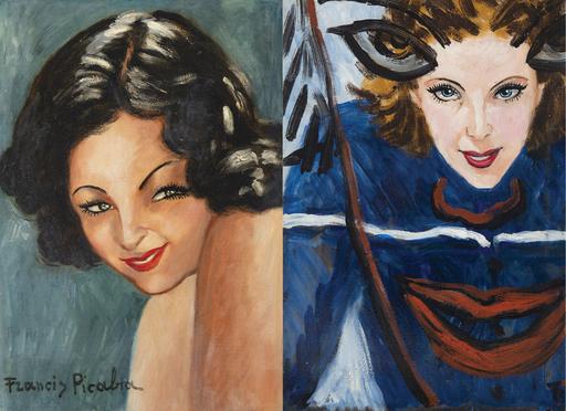 Francis PICABIA - Peinture - Tête de femme