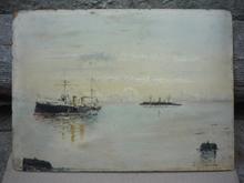 Salvador ALVARADO DE RIVAS - Pintura - (97)ESCENA PORTUARIA