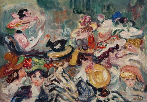 Louis VALTAT - Painting - Les chapeaux