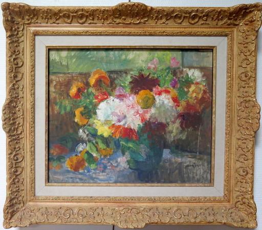 Jeanne LOURIER-DREYFUS - Painting - Bouquet de fleurs