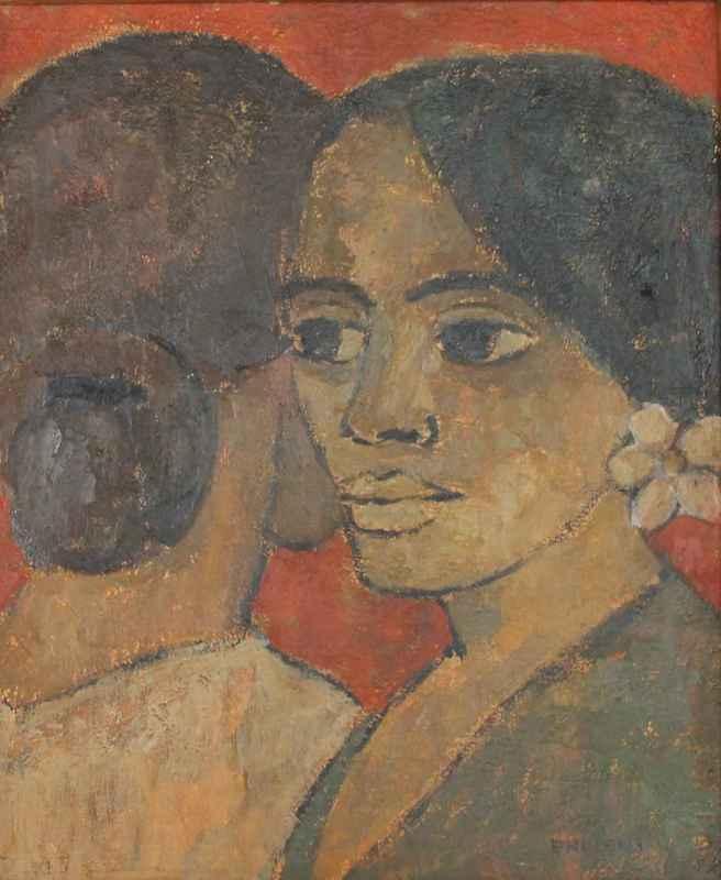 Paule NOLENS - Pintura - twee figuren