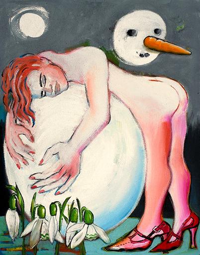 Elvira BACH - Peinture - Allein im Liebestraum