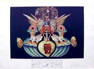 萨尔瓦多·达利 - 版画 - MONARCHIAL FLESH TONES