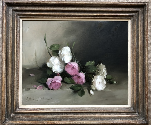 Nicky PHILIPPS - Pittura - Mixture of Old Fashioned roses