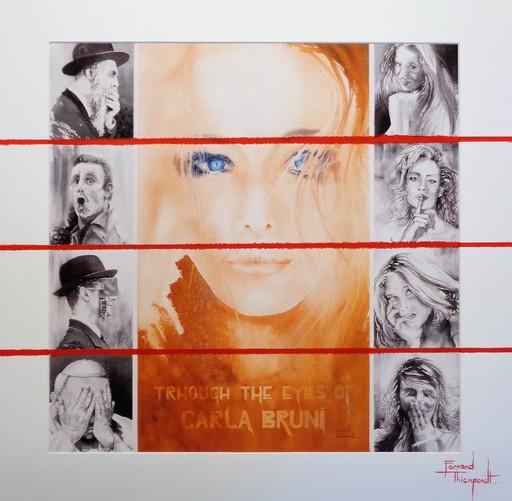 Fernand THIENPONDT - Dessin-Aquarelle - Through the eyes of Carla Bruni