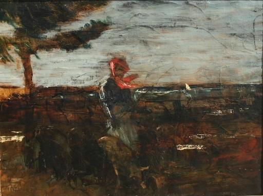 Louis LEYDET - Peinture - Dans le vent, campagne d'Aix en Provence