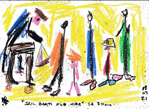 Harry BARTLETT FENNEY - Disegno Acquarello - jardin du Luxembourg (12 09 21)