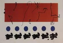 Joan MIRO - Stampa Multiplo - Ciel rouge