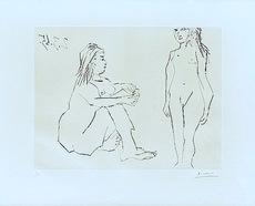 Pablo PICASSO - Grabado - Deux Femmes
