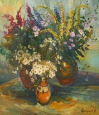 Vasil SVALJAVCIK - Peinture - Wilde Blumen