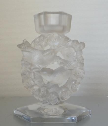 René LALIQUE - Sculpture-Volume - lampe mesanges